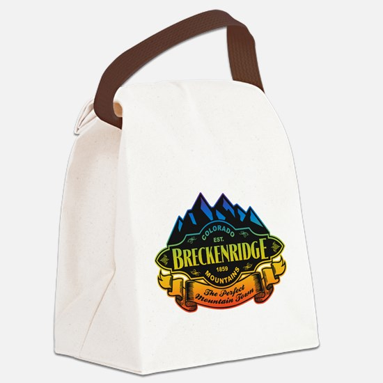 Breckenridge Mountain Emblem Canvas Lunch Bag
