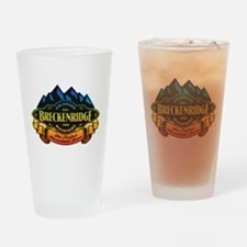 Breckenridge Mountain Emblem Drinking Glass