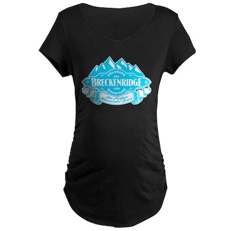 Breckenridge Mountain Emblem Maternity Dark T-Shir