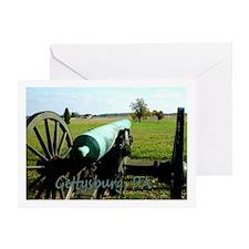Canon on Battlefield, Gettysburg PA Greetin