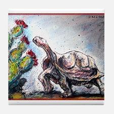 Desert tortoise! Wildlife art! Tile Coaster