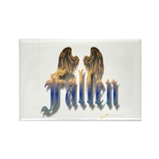 Fallen Gold to Blue Rectangle Magnet
