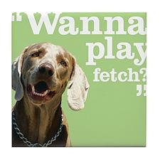 Fetch Dog Tile Coaster