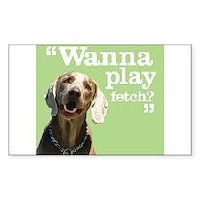 Fetch Dog Decal