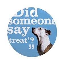 Treat Dog Ornament (Round)