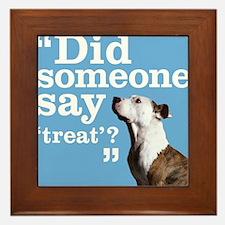 Treat Dog Framed Tile
