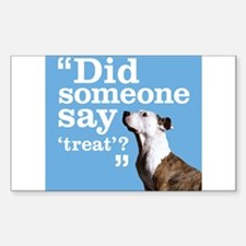 Treat Dog Sticker (Rectangle)