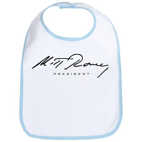 Mitt Romney President Signature Bib