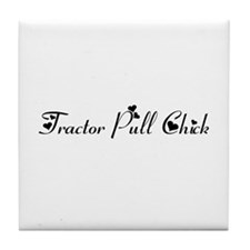Tractor Pull Chick Tile Coaster
