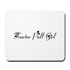 Tractor Pull Girl Mousepad