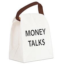 Money Talk$ Canvas Lunch Bag