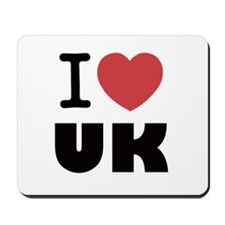I Love UK Mousepad