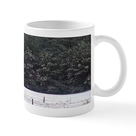 Snowy Pines and Pasture- Mug