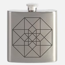 Geometrical Tesseract Flask