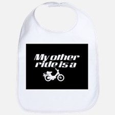 My Other Ride is a Moped (Dark) Bib