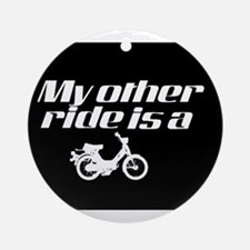 My Other Ride is a Moped (Dark) Ornament (Round)