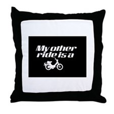 My Other Ride is a Moped (Dark) Throw Pillow