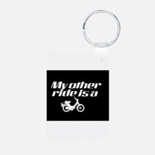 My Other Ride is a Moped (Dark) Keychains