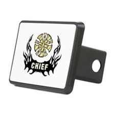 Fire Chief Tattoo Flames Hitch Cover