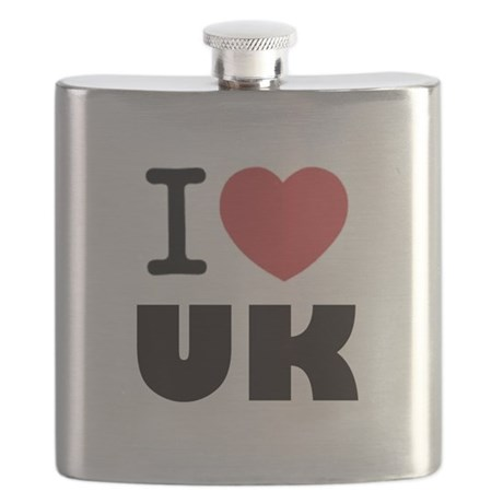 I Love UK Flask