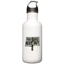 Private, Keep Out Water Bottle