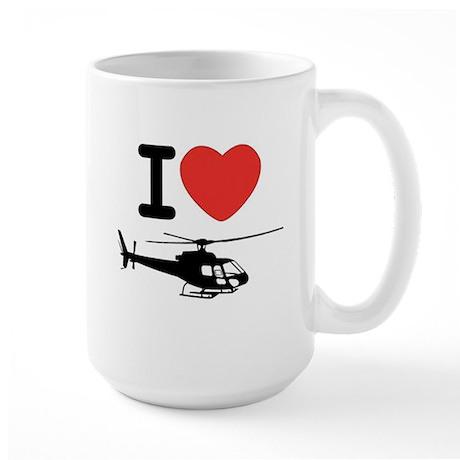 I Heart Helicopter Large Mug