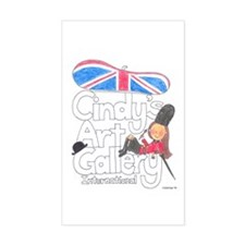 Cindy's Gallery Britain Rectangle Decal