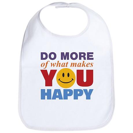 Do More Happy Bib