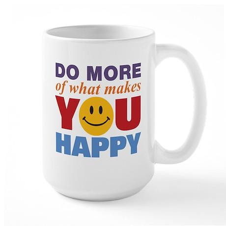 Do More Happy Large Mug