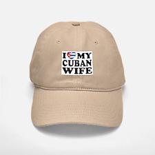 I Love My Cuban Wife Baseball Baseball Cap