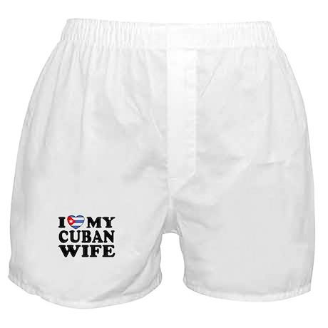 I Love My Cuban Wife Boxer Shorts