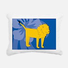 Lion Rectangular Canvas Pillow