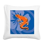 Newt Square Canvas Pillow