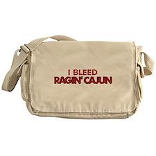 I Bleed Ragin' Cajun (Red) Messenger Bag