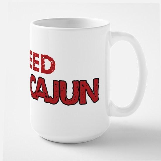 I Bleed Ragin' Cajun (Red) Large Mug