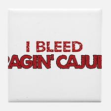 I Bleed Ragin' Cajun (Red) Tile Coaster