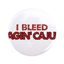 "I Bleed Ragin' Cajun (Red) 3.5"" Button"