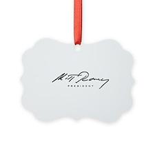 Mitt Romney President Signature Ornament