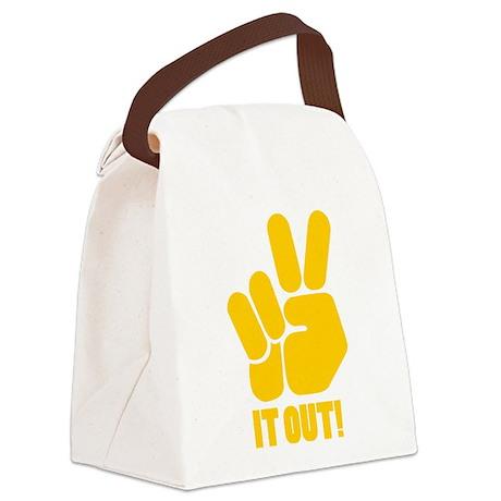 peaceitout10.png Canvas Lunch Bag