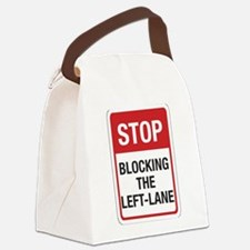 Stop Blocking 8 Canvas Lunch Bag