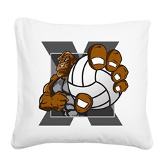 Apex Volleyball Square Canvas Pillow