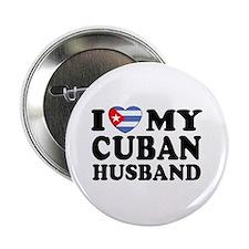 I Love My Cuban Husband Button