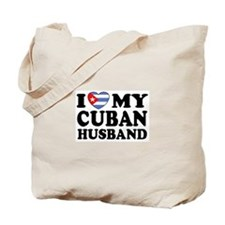 I Love My Cuban Husband Tote Bag
