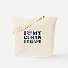 I Love My Cuban Husband Tote Bag
