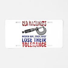 Machinist Aluminum License Plate