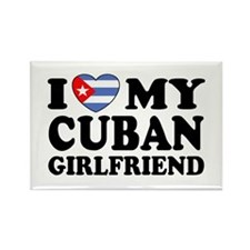 I Love My Cuban Girlfriend Rectangle Magnet