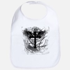 Cross Rose and Barbed Wire Bib