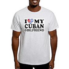 I Love My Cuban Girlfriend Ash Grey T-Shirt