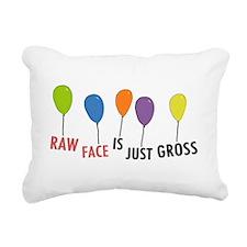 Raw Face Rectangular Canvas Pillow