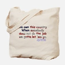 We Own This Country - Tote Bag